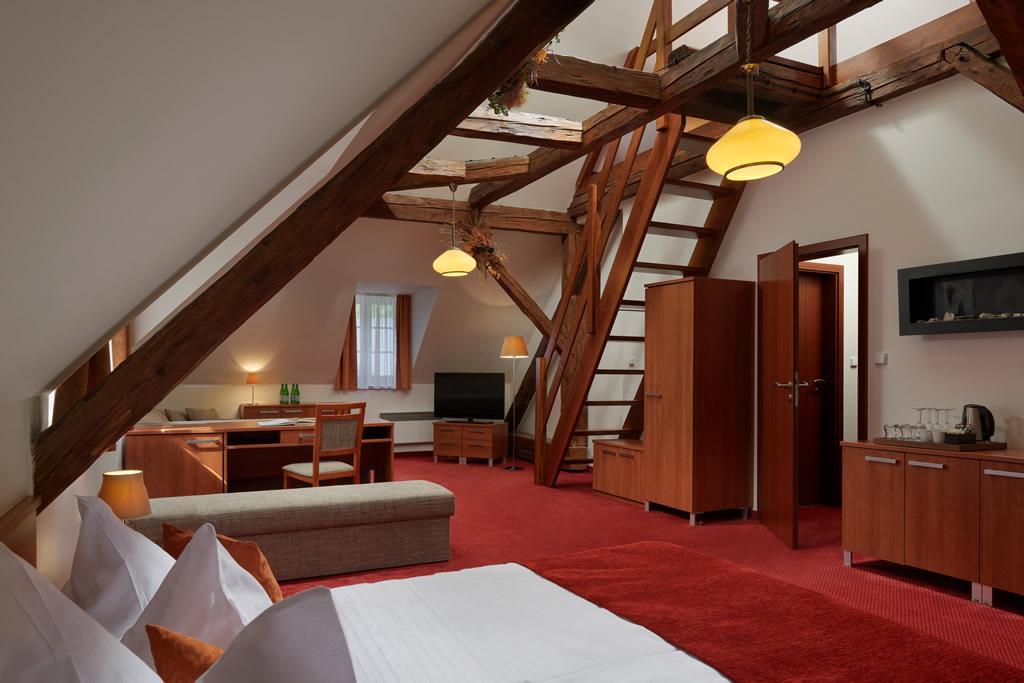 Čtyřlůžkový mezonetový apartmán DELUXE